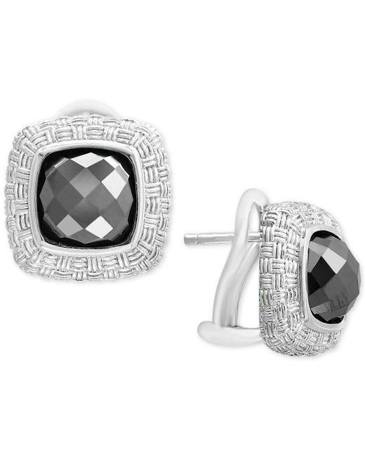 Effy Collection - Metallic Hematite (8mm) Stud Earrings In Sterling Silver - Lyst