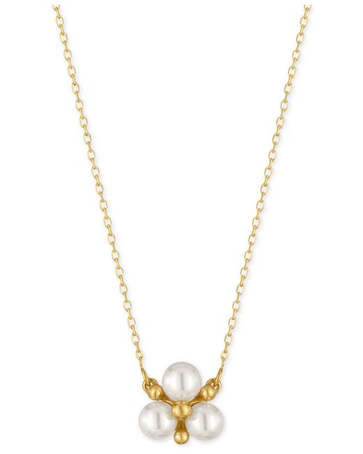 Majorica | Metallic Gold-tone Imitation Pearl Cluster Pendant Necklace | Lyst