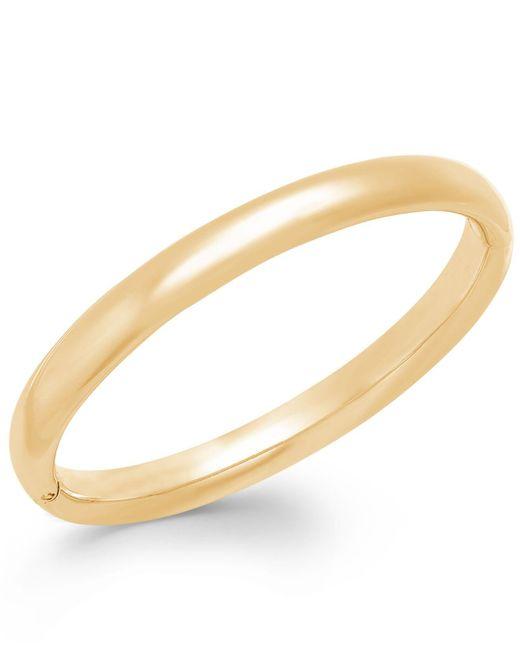 Signature Gold - Metallic Polished Bangle Bracelet In 14k Gold - Lyst