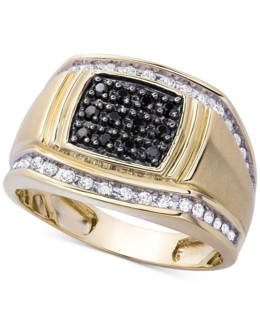 Macy's - Metallic Men's Diamond Ring (1/2 Ct. T.w.) In 10k Gold - Lyst