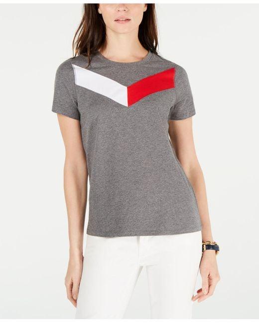 Tommy Hilfiger - Multicolor Sport Chevron-logo T-shirt - Lyst