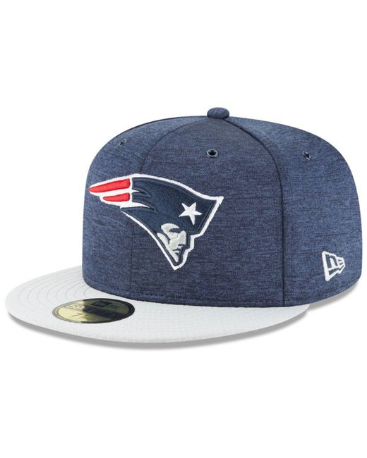 KTZ - Blue New England Patriots On Field Sideline Home 59fifty Fitted Cap  for Men ... 4e9ed4f34