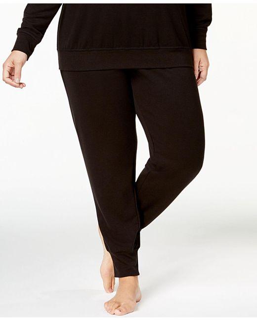 Alfani   Black Plus Size Ribbed-cuff Pajama Pants, Created For Macy's   Lyst