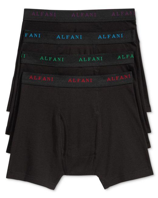 Alfani - Black Men's 4-pk. Cotton Boxer Briefs for Men - Lyst