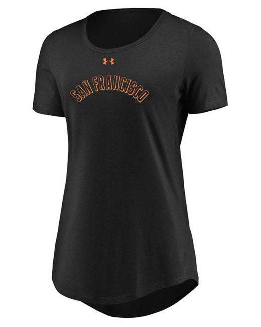 Under Armour - Black San Francisco Giants Team Font Scoop T-shirt - Lyst