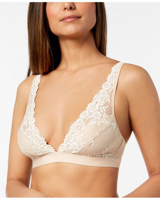 Wacoal - Natural Embrace Lace Soft Cup Wireless Bra 852191 - Lyst