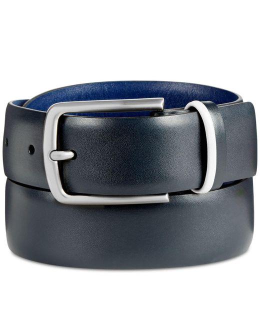Original Penguin - Blue Men's Nappa Leather Belt for Men - Lyst