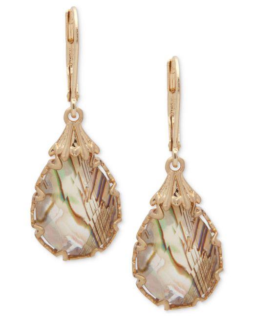 Lonna & Lilly - Metallic Gold-tone Abalone Teardrop Drop Earrings - Lyst