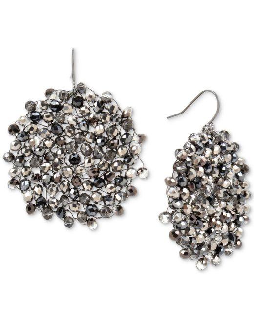 Kenneth Cole - Black Diamond-crystal Woven Drop Earrings - Lyst