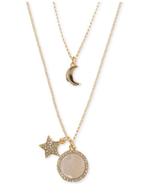 Ivanka Trump - Metallic Rose Gold-tone Two-in-one Star And Moon Charm Pendant Necklace - Lyst