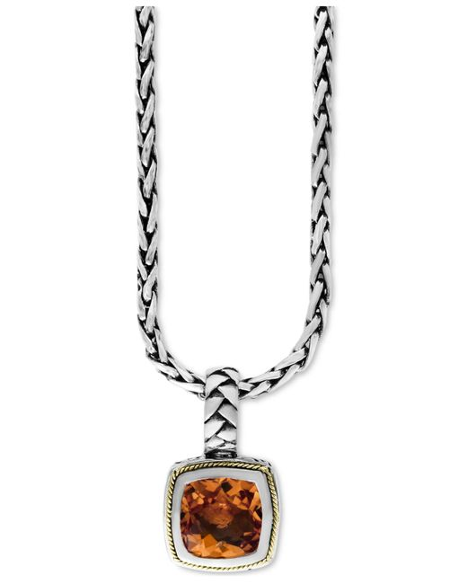 Effy Collection - Metallic Citrine (4 Ct. T.w.) Pendant Necklace In 18k Gold And Sterling Silver - Lyst