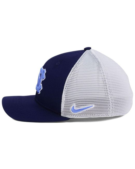 3290875c12ffe3 ... where to buy nike blue ncaa aero bill mesh swooshflex cap for men lyst  beb7a 7f4fc