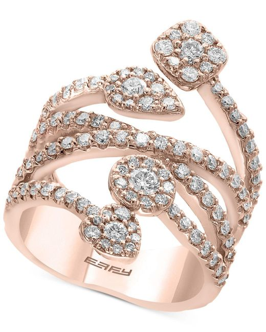 Effy Collection - Metallic Diamond Vine Statement Ring (1-3/8 Ct. T.w.) In 14k Rose Gold - Lyst