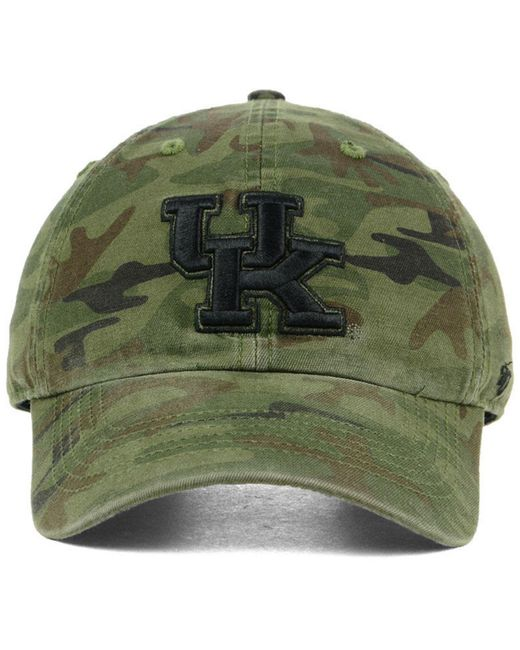 sports shoes bb09b 7e4a6 ... france 47 brand green kentucky wildcats regiment clean up strapback cap  for men lyst 83bd6 78cca