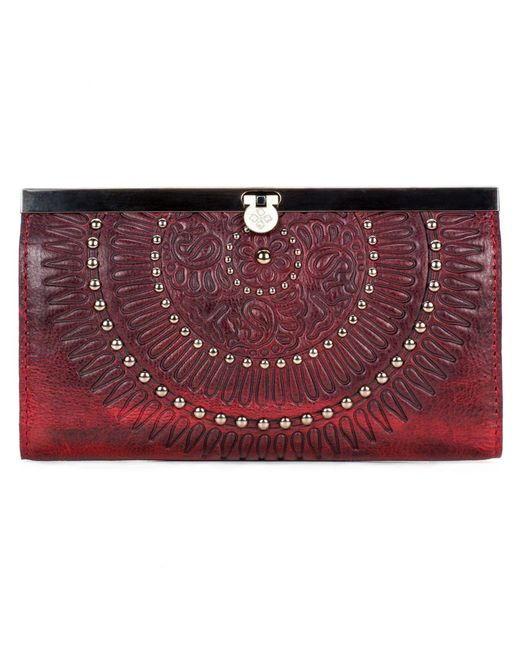 Patricia Nash | Distressed Red Cauchy Wallet | Lyst