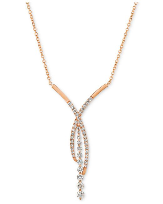 """Le Vian - Metallic ® Diamond Fancy 18"""" Statement Necklace (1-5/8 Ct. T.w.) In 14k Rose Gold - Lyst"""