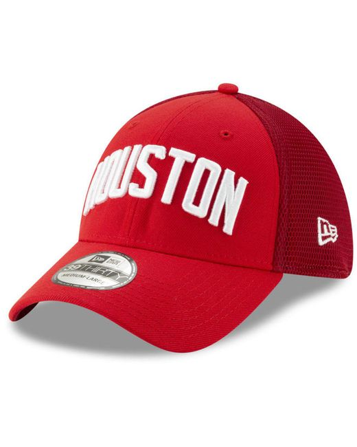 69db98f857e657 ... usa ktz red houston rockets earned edition 39thirty cap for men lyst  677e7 949ba