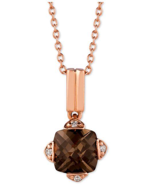 "Le Vian - Metallic ® Smoky Quartz (7/8 Ct. T.w.) & Diamond Accent 18"" Pendant Necklace In 14k Rose Gold - Lyst"
