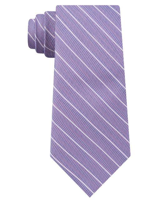 DKNY - Purple Stripe Slim Tie for Men - Lyst