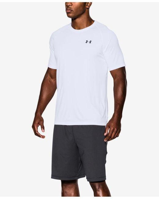 Under Armour - White Tech Short Sleeve T-shirt for Men - Lyst