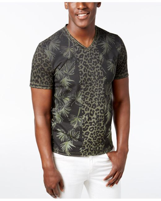 INC International Concepts | Multicolor Men's V-neck Jungle T-shirt for Men | Lyst