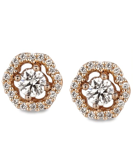 Le Vian | Pink Diamond Diamond Stud Earrings (3/8 Ct. T.w.) In 14k Rose Gold | Lyst