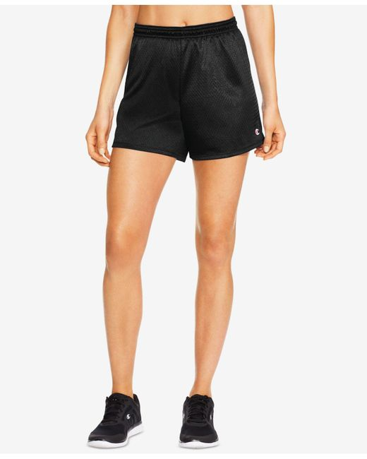 Champion - Black Mesh Shorts - Lyst