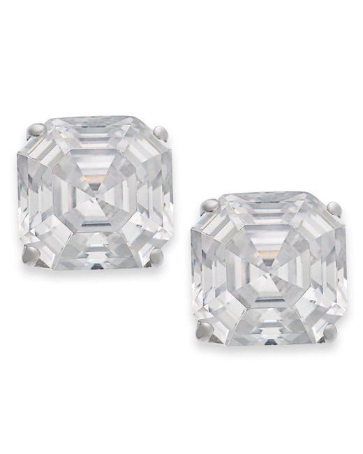 Arabella | Metallic 14k Gold Earrings, Swarovski Zirconia Stud Earrings (6mm) | Lyst