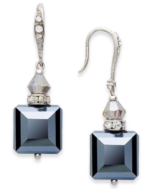INC International Concepts   Black Earrings, Silver-tone Jet Square Bead Drop Earrings   Lyst