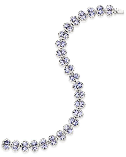 Macy's - Metallic Tanzanite Tennis Bracelet (10 Ct. T.w.) In Sterling Silver - Lyst