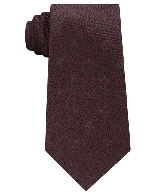 Michael Kors - Brown Men's Textured Square Silk Tie for Men - Lyst