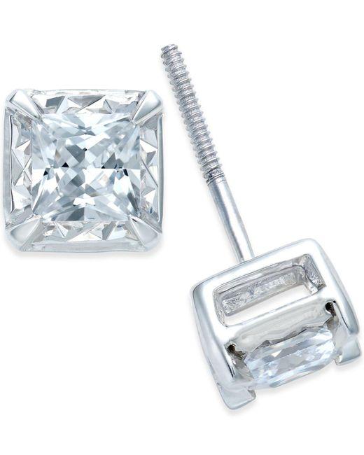 Macy's - Metallic Diamond Stud Earrings (1 Ct. T.w.) In 14k White Gold - Lyst