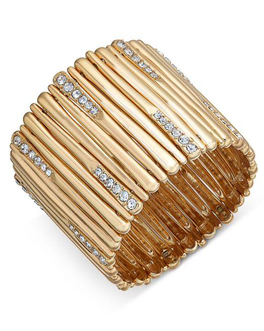 INC International Concepts   Metallic Pavé Stick Stretch Bracelet   Lyst