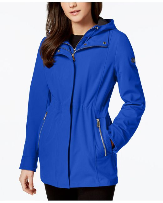 CALVIN KLEIN 205W39NYC - Blue Layered Softshell Coat - Lyst