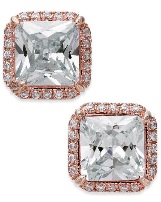 Kate Spade - Metallic Crystal Square Stud Earrings - Lyst