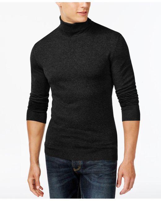 Alfani | Black Men's Turtleneck, Only At Macy's for Men | Lyst