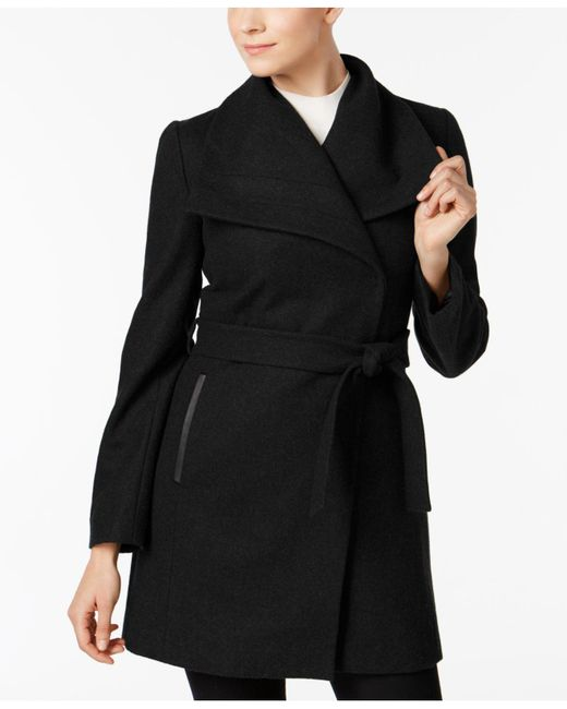 INC International Concepts   Black Wool-blend Oversize-collar Walker Coat   Lyst