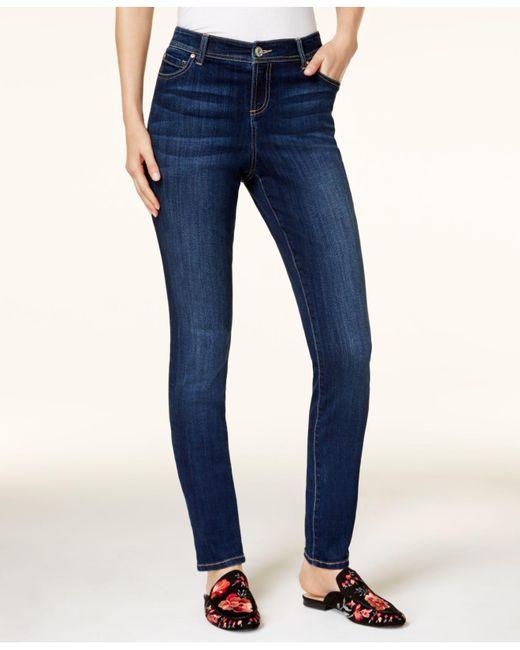 INC International Concepts - Blue I.n.c. Petite Medium Rinse Skinny Jeans, Created For Macy's - Lyst