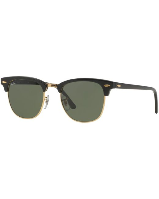 Ray-Ban - Green Rb3016 Classic Clubmaster Rimless Sunglasses - Lyst