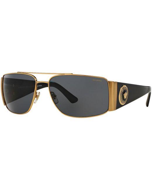 Versace - Metallic Sunglasses, Ve2163 63 for Men - Lyst