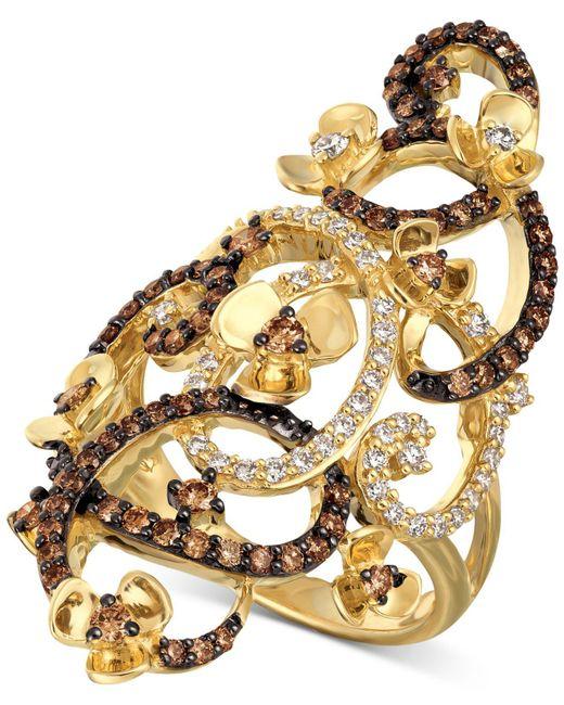 Le Vian - Metallic Chocolate Quartz® And White Diamonds Ring (1-1/6 Ct. T.w.) In 14k Gold - Lyst