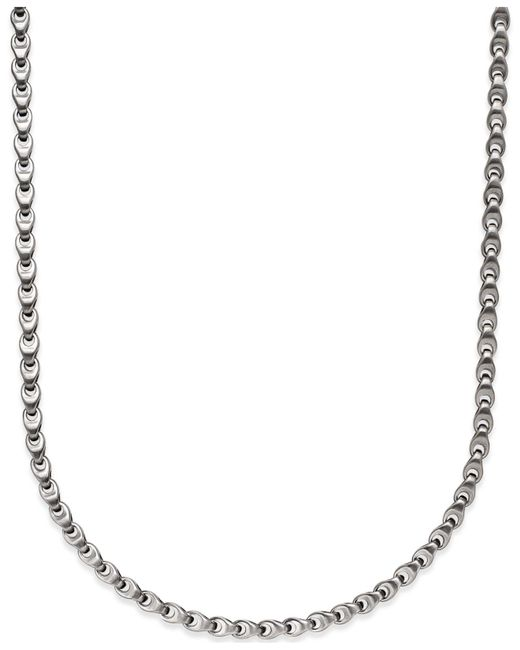 Macy's - Metallic Men's Diamond Accent Link Necklace In Stainless Steel - Lyst