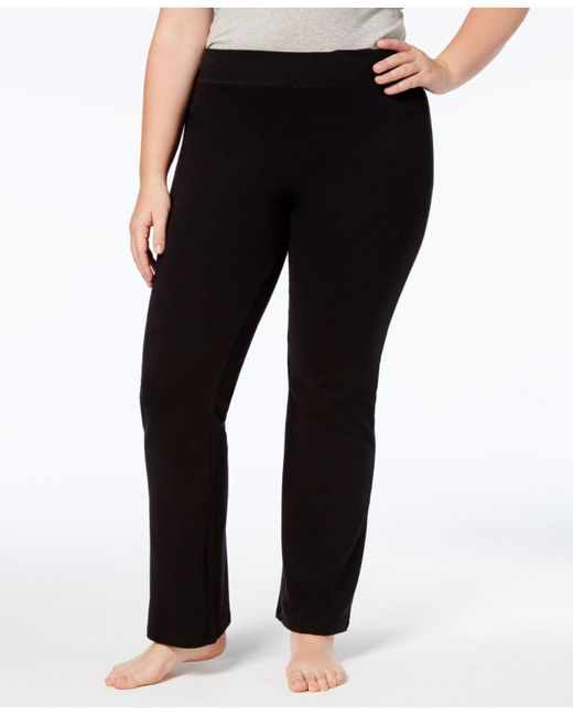 Hue - Black Women's Plus Size Yoga Leggings - Lyst