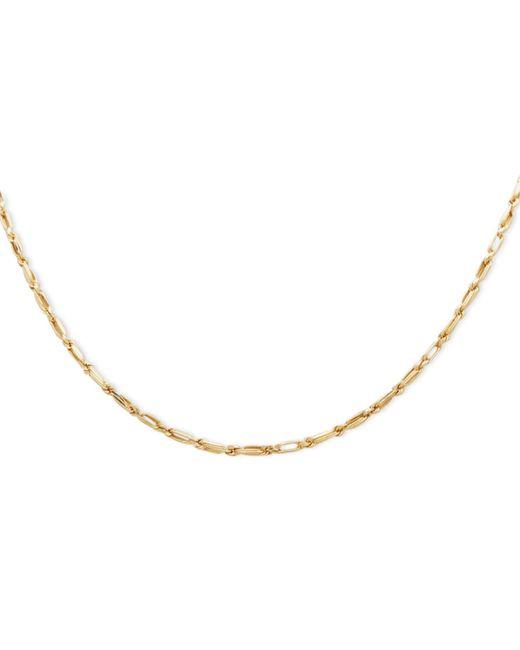 "Macy's Metallic 14k Gold Necklace, 24"" Hollow Baguette Chain"