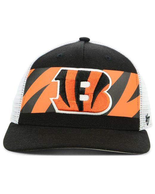 ... 47 Brand - Black Cincinnati Bengals Team Stripe Mvp Cap for Men - Lyst  ... f31fe2524