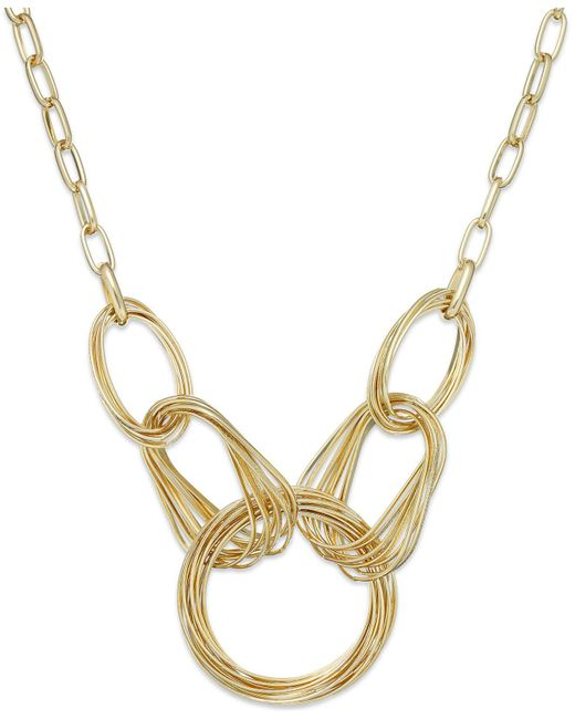 INC International Concepts | Metallic Gold-tone Multi-ring Frontal Necklace | Lyst