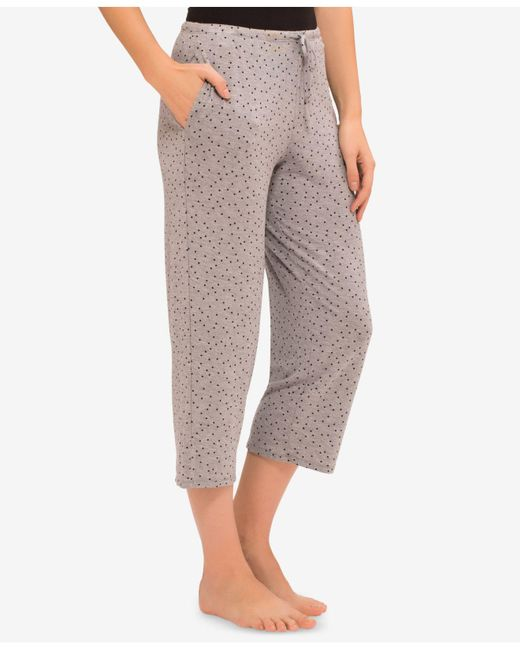 Ellen Tracy - Gray Yours To Love Capri Pajama Pants - Lyst