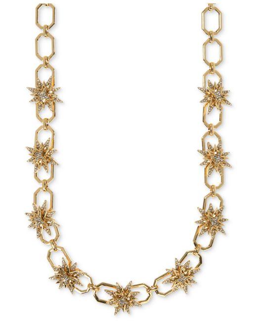 Ivanka Trump | Metallic Gold-tone Pavé Starburst Collar Necklace | Lyst