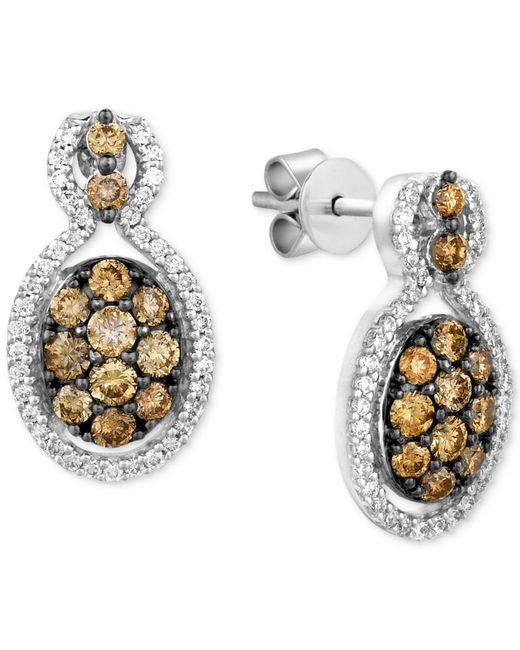 Le Vian - Metallic Chocolatier® Diamond Cluster Drop Earrings (1 Ct. T.w.) In 14k White Gold - Lyst
