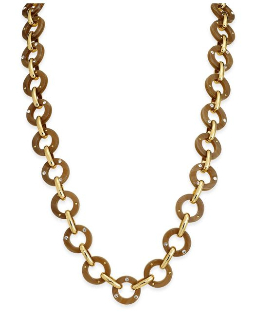 Kate Spade | Metallic Out Of Her Shell Gold-tone Tortoiseshell-look Long Necklace | Lyst